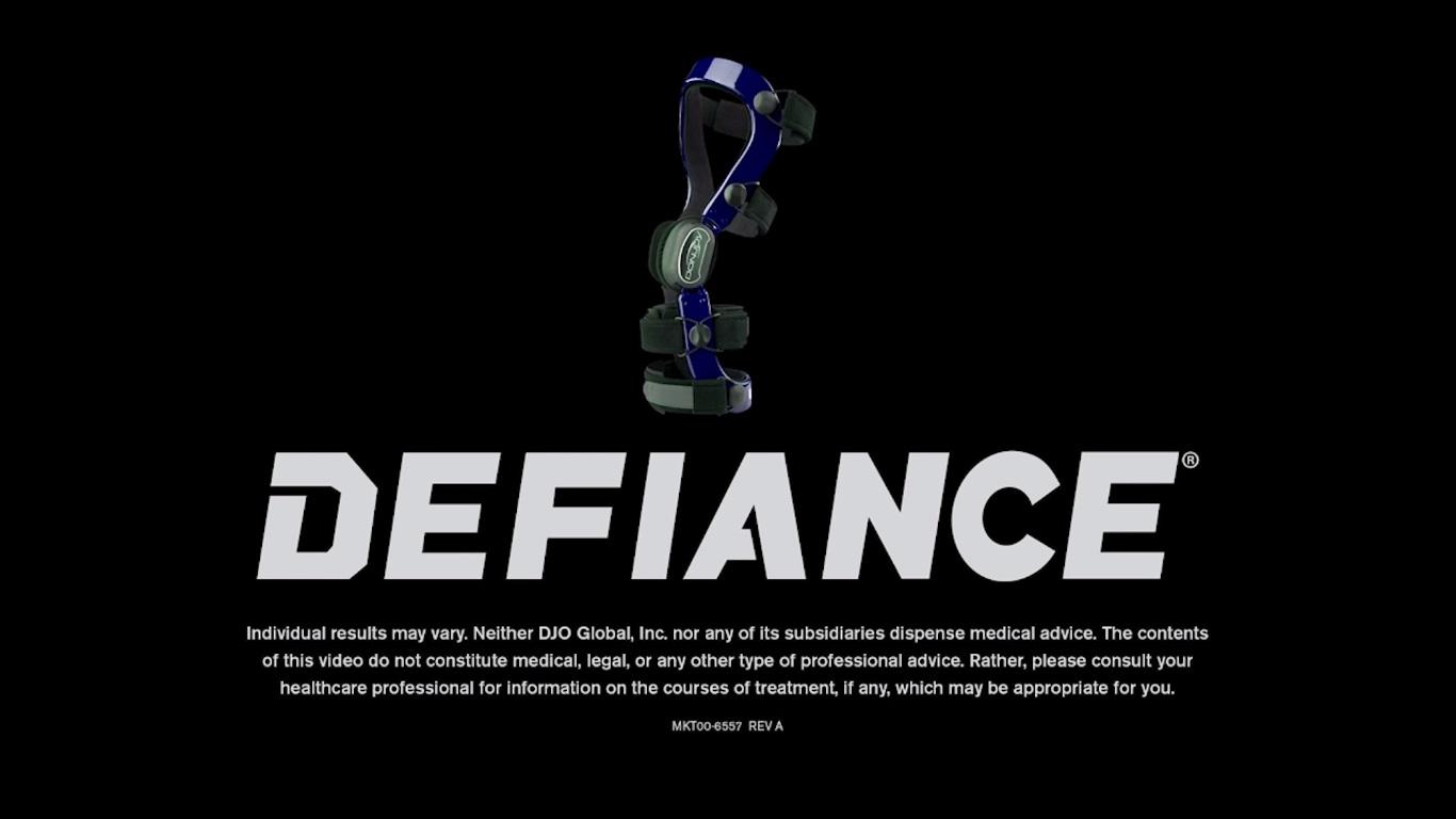 カスタムメイドブレース「Defiance®」のイメージ動画です。